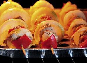 Szaszłyki z kolorową papryką - ugotuj