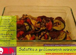 Sałatka z grillowanych warzyw - ugotuj