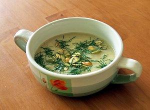 Rybno-porowa zupa krem z pestkami dynii - ugotuj