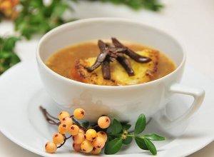 Zupa grzybowa z grzankami - ugotuj