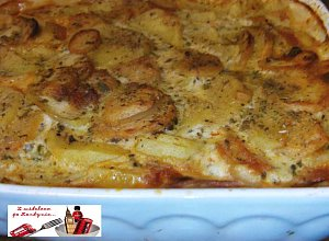 Zapiekanka ziemniaczana z kiełbasą - ugotuj