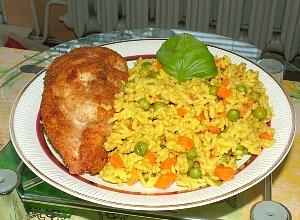 Żółty ryż z warzywami - ugotuj