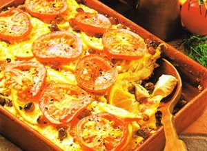 Zapiekanka ziemniaczana z kiszoną kapustą - ugotuj