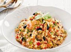 Smażony ryż z oliwkami - ugotuj