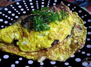 Omlet z grzybami - ugotuj