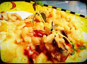 Pieczarkowe risotto - ugotuj