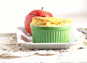 Serowe sufleciki i jabłka nadziewane granolą - ugotuj
