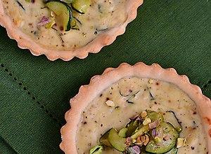Tartaletki z cukinią, ricottą oraz pistacjami - ugotuj