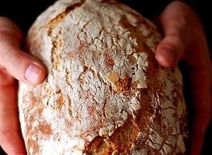 Chleb pszenno - żytni ze słoikiem