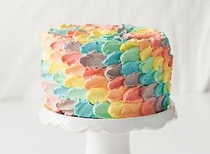 Rainbow Petal Cake - przepis blogera