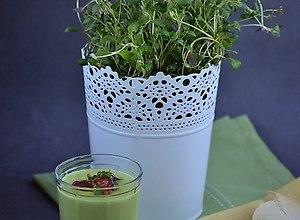 Zupa-krem z zielonego groszku - ugotuj