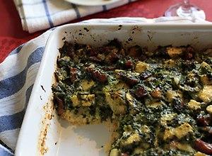 Tarta chlebowa ze szpinakiem i boczkiem-przepis blogera - ugotuj