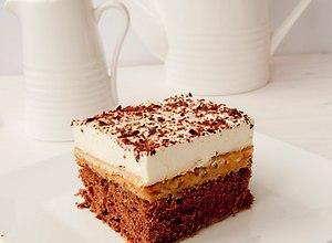 Ciasto z kremem krówkowym- przepis blogera - ugotuj