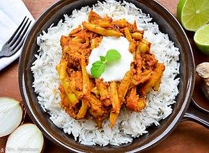 Curry z fasolką szparagową - ugotuj